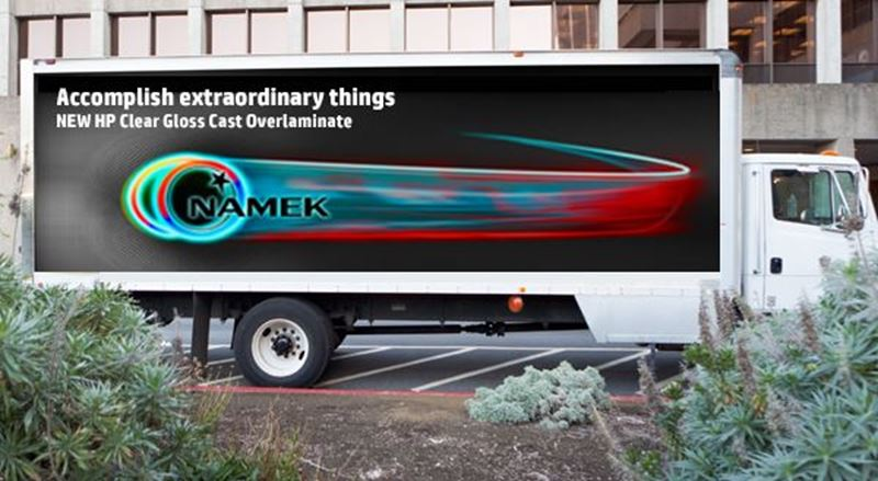 INTRODUCING NEW HP Clear Gloss Cast Overlaminate—a cost-effective solution for fleet graphics!