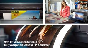 Print and trim on HP's first vertical trimmer!