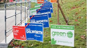 Sign, sign, everywhere an election sign!