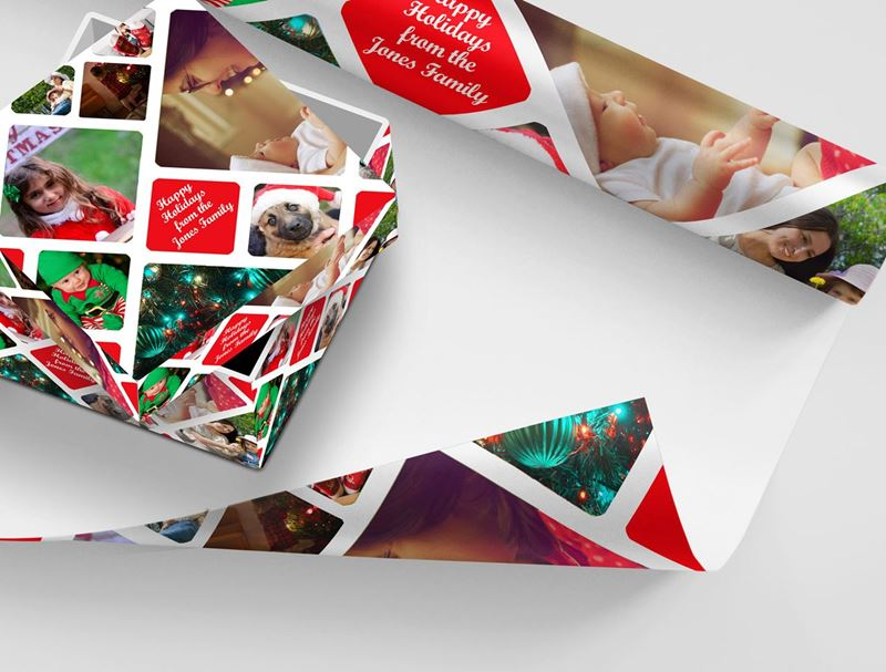 Offer customizable gift wrap for the holidays – stock up now!